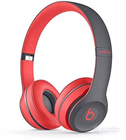 Beats Solo2 Wireless rosso/grigio cuffie rare orig