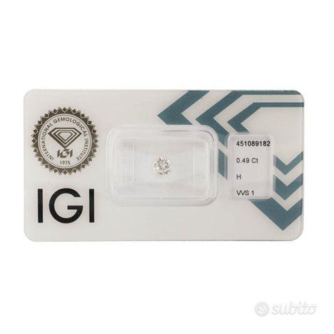 Diamante certificato IGI 0,49 ct