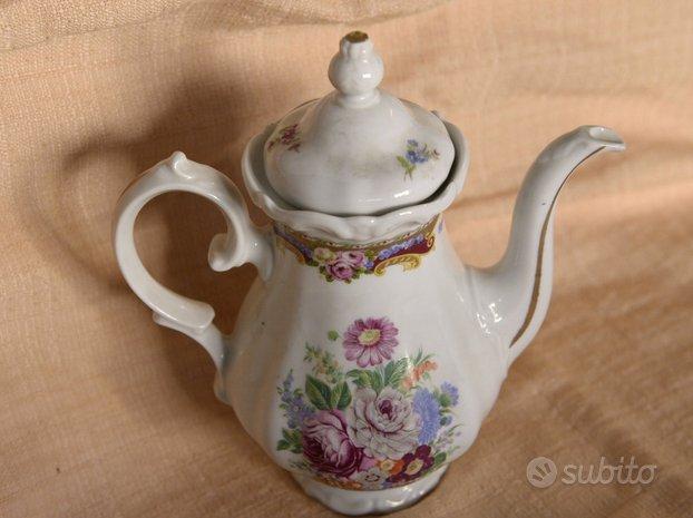 Set 3 pezzi Limoges teiera, piatto, posacenere