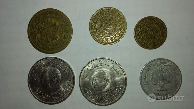 Lotto 6 monete Tunisia