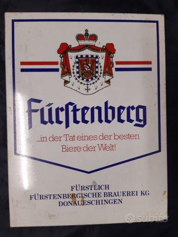 Targhe, tabelle pubblicitarie, birra Furstenberg