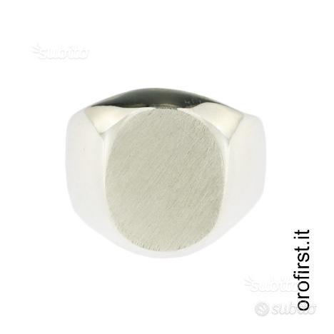 Anello a sigillo in argento 925%