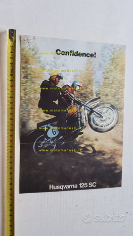 Husqvarna 125 SC cross 1974 depliant inglese moto