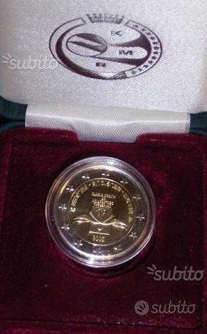 2 euro Belgio 2008 proof fs diritti dell' uomo