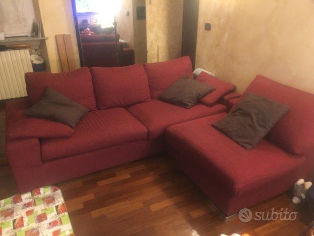 Divano letto con chaise longue artigianale