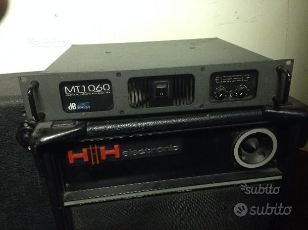 Testata dB Technologies e cassa HH Eletctronic