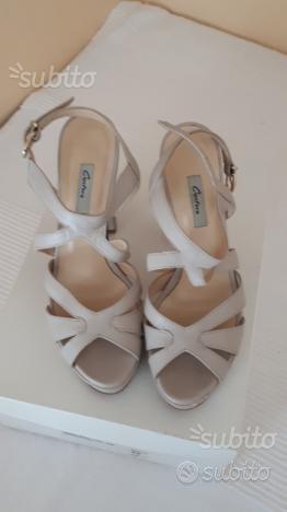 Sandalo couture beige taglia 35