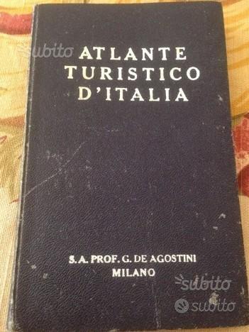 Atlante turistico d'italia vintage De Agostini