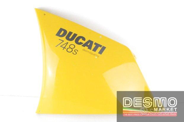 Carena alta sx gialla ducati 748 998