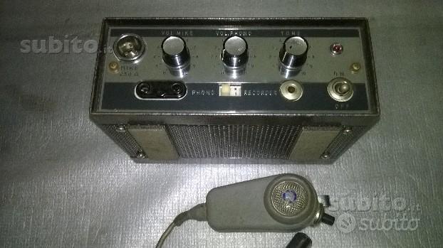 Trombe con amplificatore e microfono anni 70