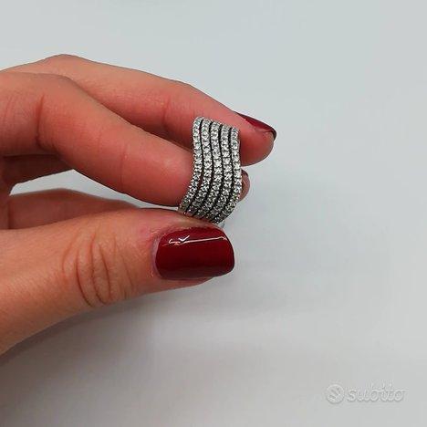 Anello donna Fascia in Oro 18 kt e Diamanti 1 Ct