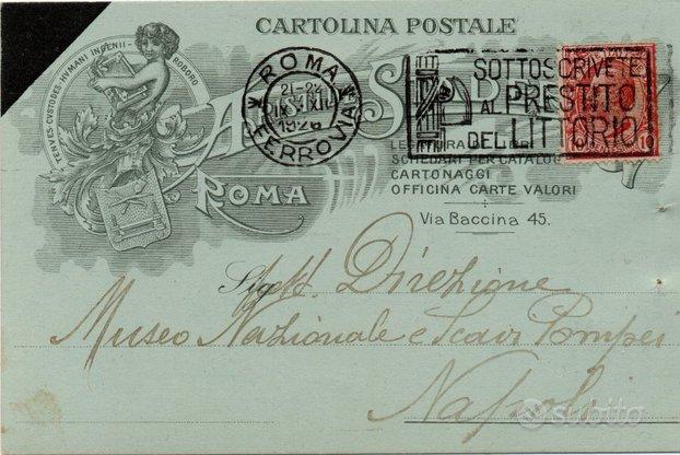 Cartolina Cartoleria - Legatura - A. Staderini