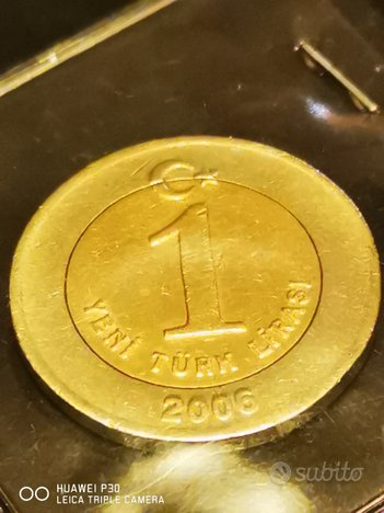 1 lira turchia 2006