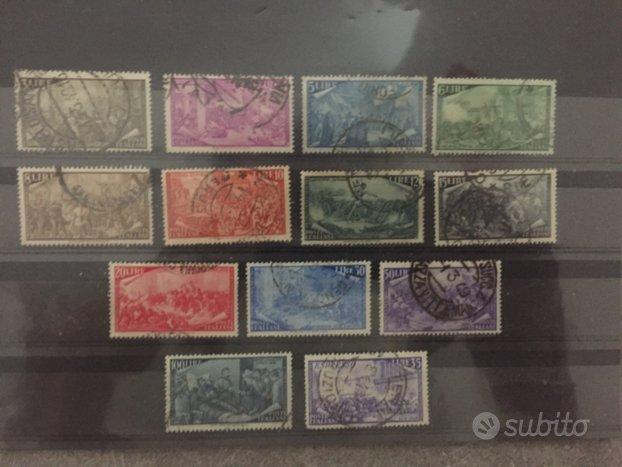 Serie francobolli Risorgimento + espresso