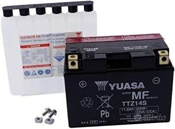 Batteria yuasa ttz14s 12v 11.2ah acido moto ktm