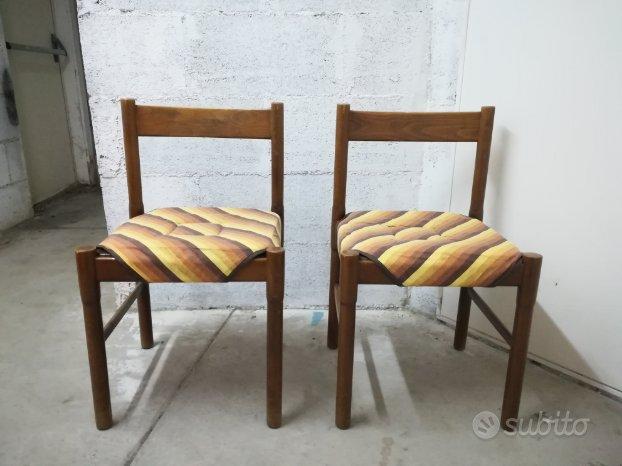 coppia di sedie in legno arredamento e casalinghi in