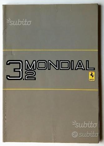 Manuale Uso Manutenzione Ferrari 3.2 Mondial