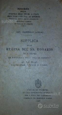 Madonna S. Rosario POMPEI 1927 libro preghiera