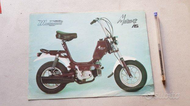 Malaguti Motorik 50 depliant ciclomotore anni '70
