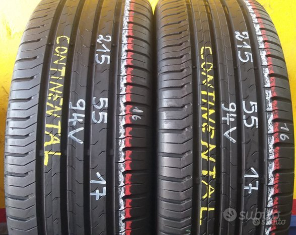 2 gomme usate 215 55 17 continental estive