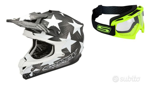 Casco moto cross enduro quad scorpion maschera
