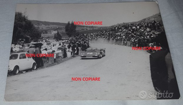 Foto antica TARGA FLORIO 1970 Fiat Abarth 2000 cc