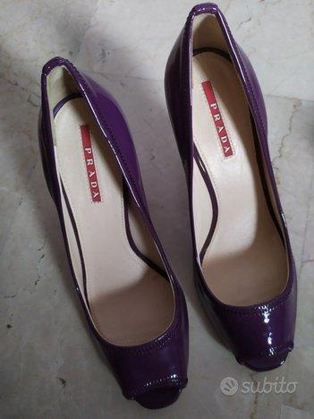 Décolleté Prada viola e scarpe Hogan n. 36