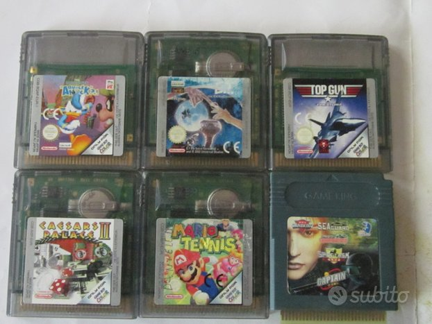 16 cartucce game boy color usate