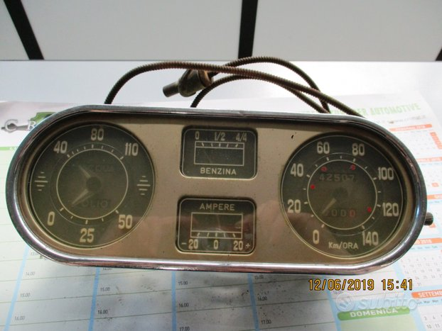 Quadro strumenti Fiat 1400 prima serie