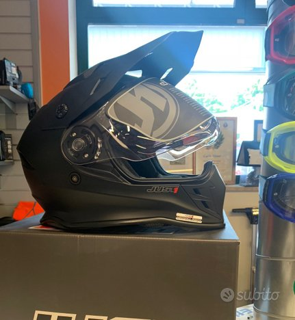 Casco Motard Just Solid Black nuovo
