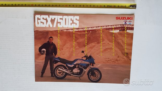 Suzuki GSX 750 ES 1985 depliant ITALIANO moto