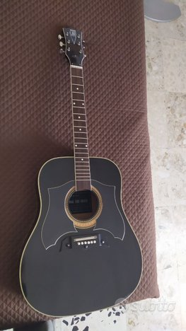 E-ros raven chitarra acustica vintage italy