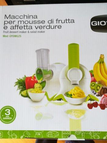 Macchina per mousse di frutta e affetta verdure