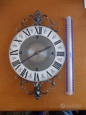 Orologio ferro battuto vintage da revisionare raro