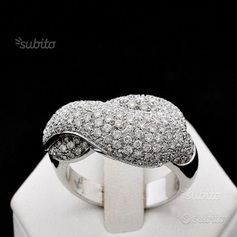 Anello tangle in oro 18kt pave' di diamanti