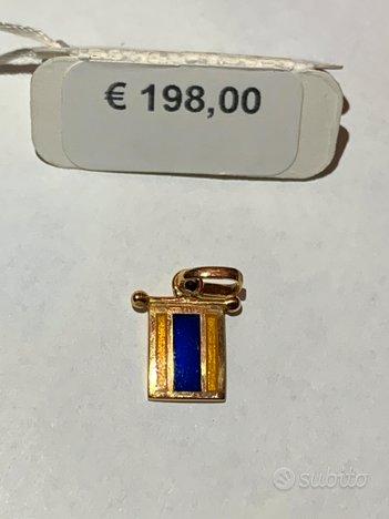 Ciondolo oro 18kt Giovepluvio 1.5gr Lettera D