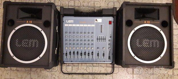 Mixer lem compact 208 con casse diffusori 8 canali