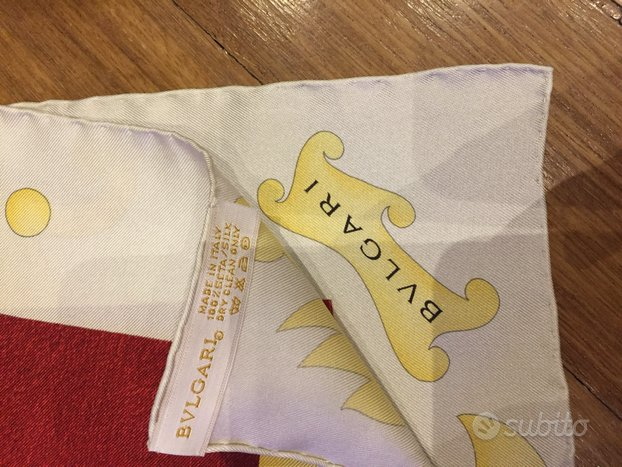 Foulard scarf design bvlgari nuovo seta originale