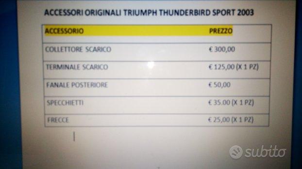 Ricambi Originali Triumph Thunderbird Sport 2003 -
