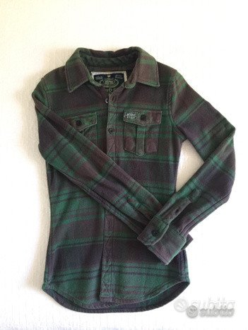 Giacca Superdry scozzese verde TG.S