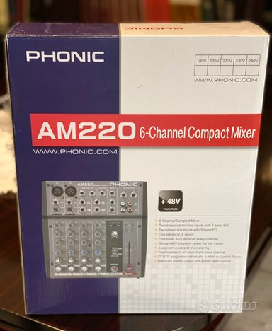 Mixer Phonic AM220 6Ch come nuovo