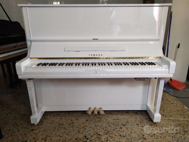 Pianoforte Yamaha U3 H bianco trasporto incluso
