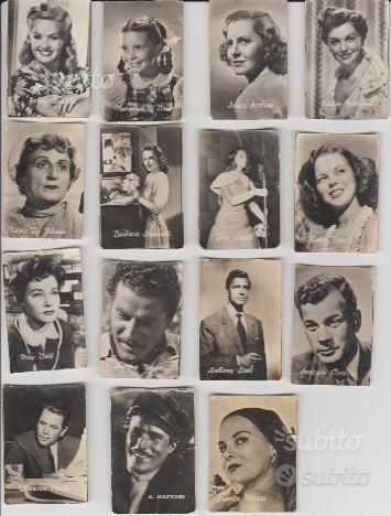 Figurine attori cinema anni 30 Dolcificio Lombardo