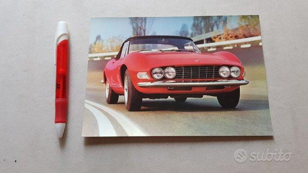 Fiat Dino Spider cartolina pubblicitaria auto