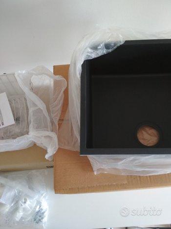Smeg lavello universale vasca sottotop 50cm nero