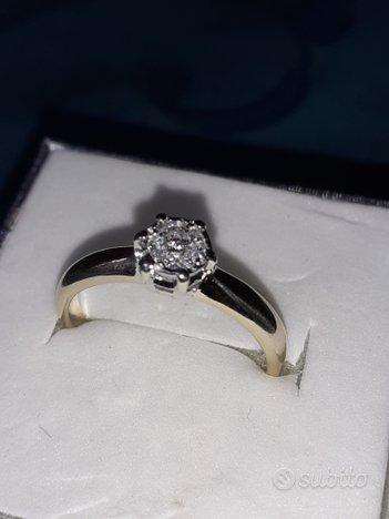 Anello solitario diamante brillante oro