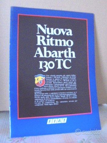 Fiat nuova ritmo abarth 130 tc depliant