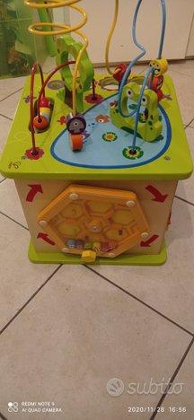 Cubo legno gioco multiattività