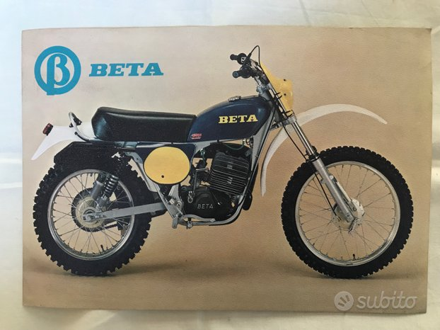 Depliant MOTO BETA modello SG 125 anni ' 70