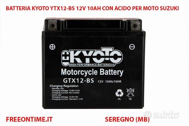 Batteria kyoto gtx12-bs 12v 10ah AGM moto suzuki